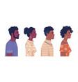 africa ethnicity population afro black skin people vector image