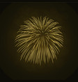 beautiful gold firework bright firework isolated vector image vector image