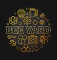 bee yard round yellow creative linear vector image vector image