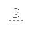 beer monogram vector image