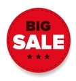 Big Sale label red vector image vector image