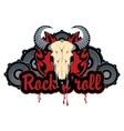 bull skull and roll vector image vector image