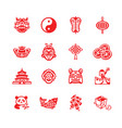 chinese icons - micro series vector image vector image