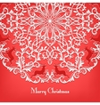 Christmas Greeting card with snowflake and deer vector image vector image