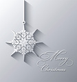 christmas snowflake background 0810 vector image vector image