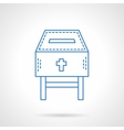 Church fundraising blue flat line icon vector image vector image