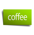 coffee green paper sign on white background vector image vector image
