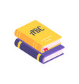 colorful books with bookmark vector image vector image