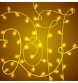 Colorful Glowing Christmas Lights in shape 2017 vector image vector image