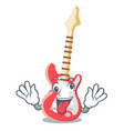 crazy electric guitar isolated with the mascot vector image