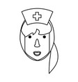 cute nurse cartoon vector image vector image