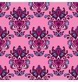 Damask seamless pattern floral design vector image