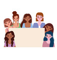 diversity women different young girls together vector image vector image