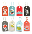 Easter Isolated Tags - Labels with String Set vector image vector image