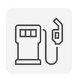 energy icon black vector image