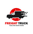 fast transport truck logo vector image