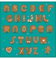 Festive font Funny cookies vector image