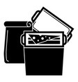 food lunch box icon simple style vector image