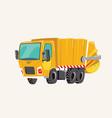 funny cute hand drawn cartoon vehicles bright vector image vector image