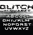 glitch alphabet no signal background error vector image vector image