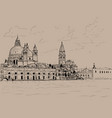 grand canal and basilica santa maria della salute vector image