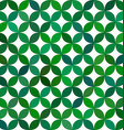 Green abstract curved pattern background vector image vector image