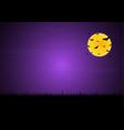 halloween flying bat moon graveyard background vector image vector image