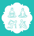 hand drawn yoga poses line vector image vector image
