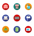 Household appliances set icons in flat style Big vector image vector image