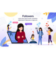 internet audience reaction banner template vector image vector image