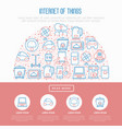 internet of things concept in half circle vector image vector image