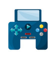 isolated game control vector image