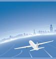 manila skyline flight destination vector image vector image