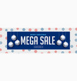 mega christmas sale banner with silver hanging vector image