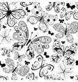Monochrome black seamless pattern vector image