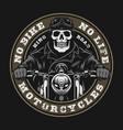 motorcycle vintage round print vector image vector image
