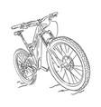 mountain bike vector image vector image