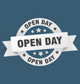 open day ribbon open day round white sign open day vector image vector image