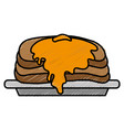 pancakes icon image vector image vector image