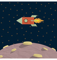 Papercraft rocket and planet vector image vector image