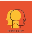 Perplexity Line icon with flat design elements vector image vector image
