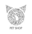 Pets Shop Poster vector image