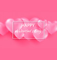 pink valentine s day background with tender 3d vector image vector image