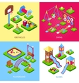 Playground 2x2 Images Set vector image vector image