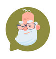 profile icon senior male head in chat bubble vector image vector image