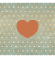 Retro background with heart vector image vector image