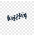 scarf concept linear icon isolated on transparent vector image vector image