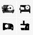semi automatic meat slicer vector image vector image