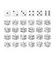 set 24 icons dice in all possible turns vector image vector image