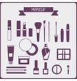 Set of cosmetics icons in flat style vector image vector image